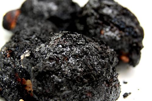 burnt chicken
