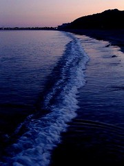 (**Gypsum Fantastic**) Tags: sunset sea england sky beach water coast dusk samsung dorset weymouth nv7