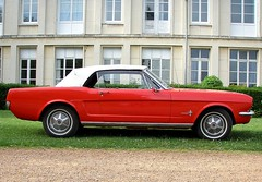 Ford Mustang cabriolet rouge (gueguette80 ... non voyant pour une dure indte) Tags: red ford rouge convertible mustang amiens picardie cabriolet somme redcars uscars americaines lapro