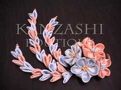 for matsuri (Kanzashi.Boutique) Tags: flower cute japan fun japanese rainbow handmade traditional craft hobby fabric jakarta boutique accessories tsumami hairclip colourfull kanzashi