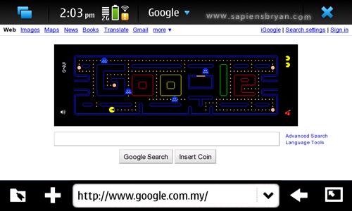 Google PacMan on Nokia N900