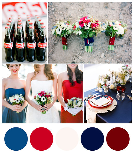 Red White and Blue Wedding Inspiration