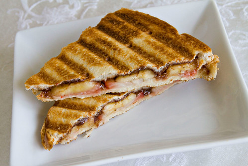 Strawberry Banana Nutella Panini - 3