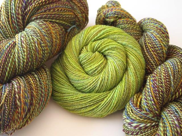 SAG fiber handspun yarn