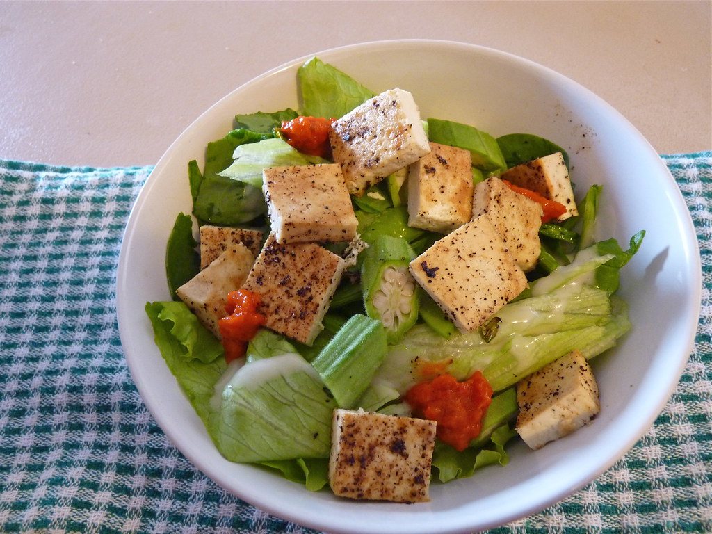 Healthy tofu salad