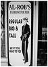 Al-Rob's Fashions For Men (swanksalot) Tags: blackandwhite bw signs chicago fashion 35mm clothing roosevelt faved naturallyblackandwhite swanksalot sethanderson conley'spatch