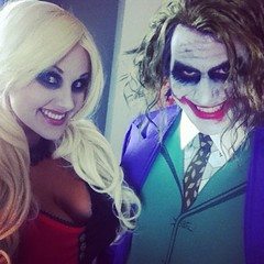 We had a blast cosplaying as #HarleyQuinn & #Joker in 2012  hope to cosplay them again soon (Screen Team) Tags: square squareformat amaro iphoneography instagramapp uploaded:by=instagram