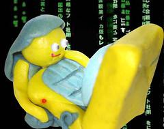 Little Hacker (Mankamundo PhotoArt) Tags: sculpture girl photoshop model eyes laptop clay hacker bulging balqis mankamundo