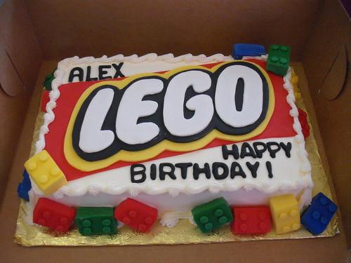Lego Logo Cake