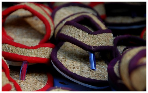 Colorful coir-chappals