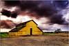 Nipomo (Extra Medium) Tags: storm clouds barn farm sunrays hdr santabarbaracounty nipomo ruralcalifornia yellowbarn