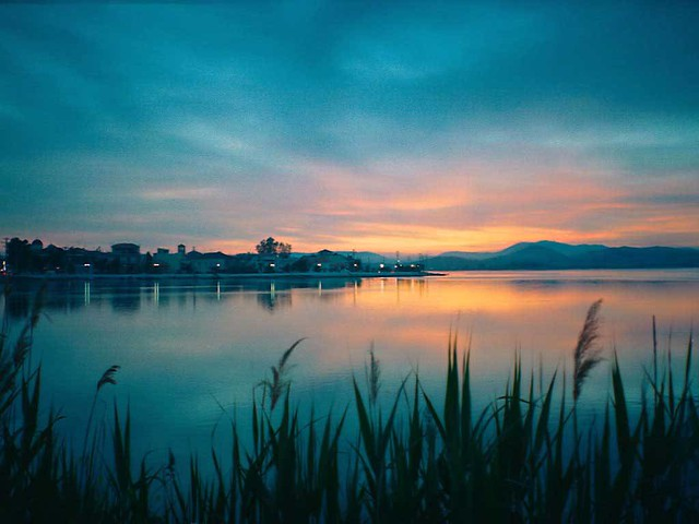 Δυτική Ελλάδα - Αιτωλοακαρνανία - Δήμος Αιτωλικού Ηλιοβασίλεμα στο Αιτωλικό