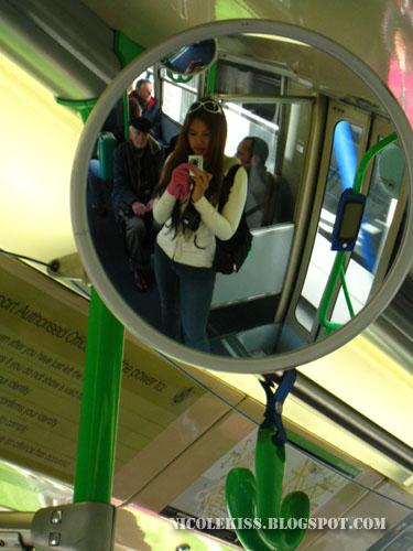 mirror in tram