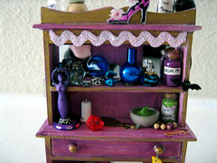 Beauty Lost Witch's Enchanted Hutch (Enchanticals ~I'm Coming Back) Tags: wood moon beauty youth keys miniature beads dolls candle bottles furniture handmade witch lace dam magic goddess young mirrors books fantasy hutch collectible etsy collectibles enchanted dollhouse celestial dioramas potions spells crystalball findings mids perfumebottles elixirs oneinchscale 112thscale etsyteams spellwork minimakers faeteam vanityitems damteam teammids enchanticals miniaturedollhousescale