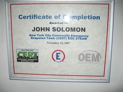 EOC Certificate