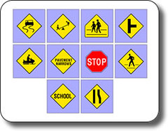 free flash cards – road signs