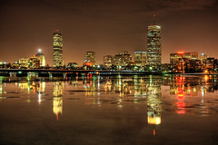 The Thawing Process Begins *E#145 (Craig Stevens <castevens12>) Tags: bridge winter skyline night landscape downtown cityscape nightshot mit nighttime mass boathouse bostonma hdr highdynamicrange backbay massachusettsinstituteoftechnology