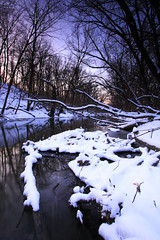 Winter Logjams On The North Branch, Bunker Hill Woods, Cook County, Illinois (mastodont) Tags: trees winter snow water sunrise illinois scenics enjoyillinois northbranchchicagoriver notjustlandscapes cookcountyforestpreserves illinoistravel sciencechicago