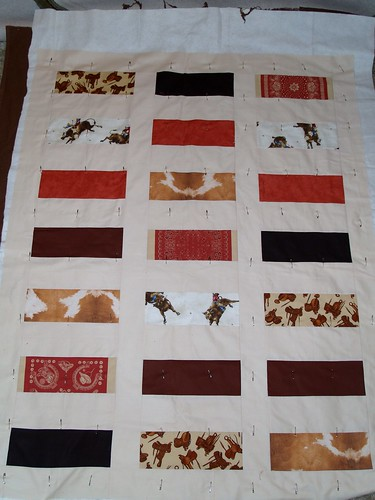 Cowboy blanket for James Randall Frame