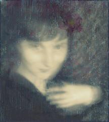 purple feelings (naeledra_anomis) Tags: old selfportrait flower lily purple autoretrato images moved simona ghostly impression feelings dantegabrielrossetti abigfave 2bdasest