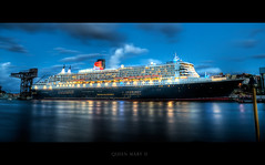Queen Mary 2 At Night, Sydney (Dylan-K) Tags: ocean cruise 2 night boat high nikon ship dynamic oz mary sydney large australia queen nikkor aus range queenmary2 hdr liner d90 10millionphotos aplusphoto nikkor1855mmf35g