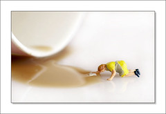 Mopping up the Tea (annie170768) Tags: people macro miniature little housewives tiny cleaner housewife