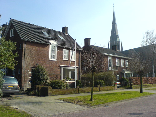 Schöne Wohnsiedlung in Enschede