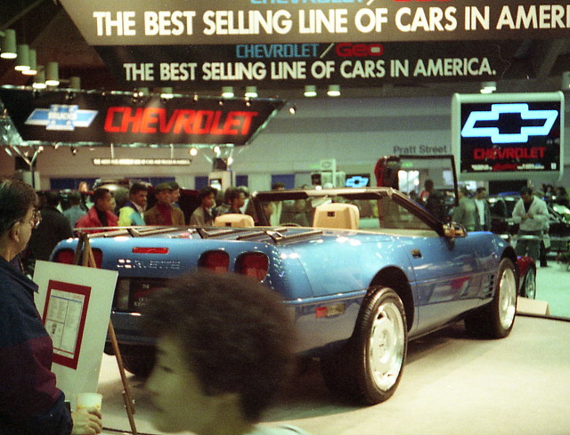 convertible chevy 1991 corvette carshow c4 baltimoremd baltimoreconventioncenter motortrendinternationalautoshow