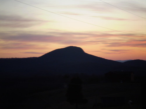 Sunset over Buffalo Mountain