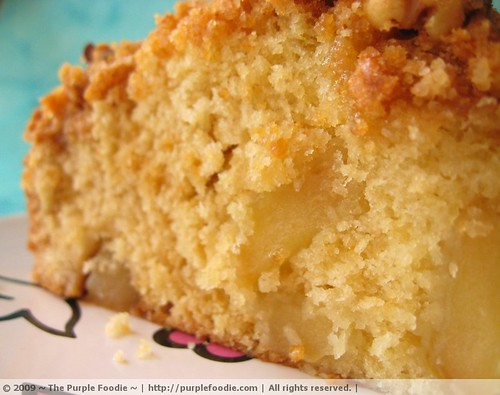 Apple cake: Moist interior