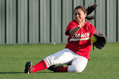 SLIDING CATCH (chemisti) Tags: school usa sports high nikon texas softball boyd capture athlete fastpitch mckinney d300 nx2 tamron70200mmf28dildifmacroaf highschoolsoftballmckinneyboyd
