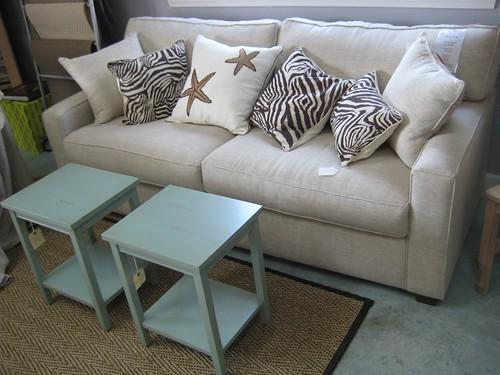 Modern Sofa In Natural Linen