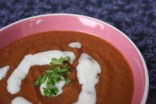 Roasted Aubergine and Tomato Soup