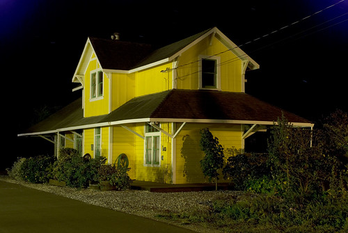 Old House on Railroad Ave - Half Moon Bay After Dark