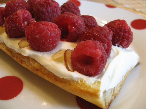 Raspberry-Almond Napoleon