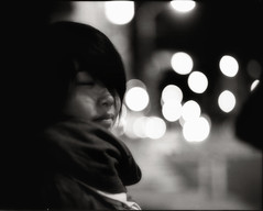 silence of the lamb (TommyOshima) Tags: woman monochrome evening takumar kodak hc110 delta 6x7 3200 smc ilford silenceofthelambs clarice 105mm f24 pentax67ii adilution
