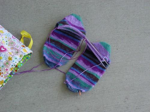 Toe up Regia Socks