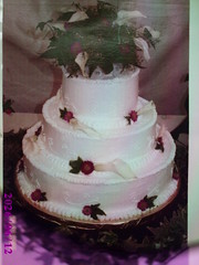 Fresh Calla Lilies Wedding Cake (Creative Cakes For All Occasions) Tags: wedding floral simple stacked calalilly freshflowers