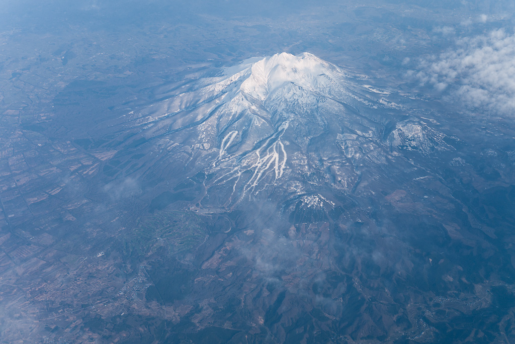 Mt.Iwaki view from sky