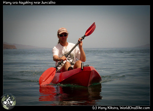 Harry sea-kayaking near Juncalito