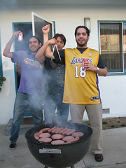 Woot woot! (Homies In Heaven) Tags: bbq grill lakers johnv erickc royk