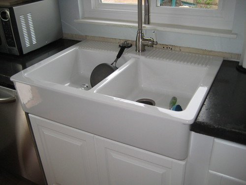 Ikea Domsjo Farmhouse Sink Installation ~   paid $299 for this sink Farm sinks are generally very expensive