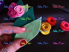 Broche de Rosas PAP 3 (Ada_Flor) Tags: flores broche flor rosa feltro pap acessorios