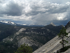 View from Half Dome cables (Curry Village, California, United States) Photo