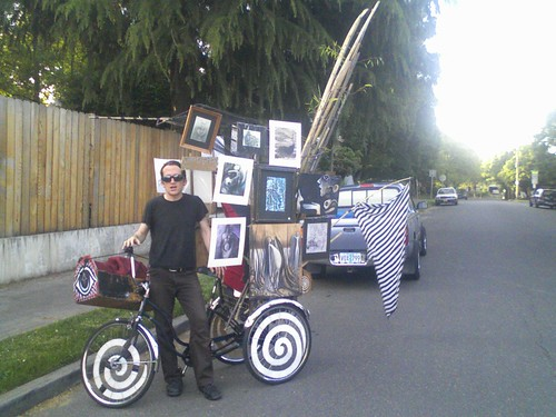 David and his Art Trike