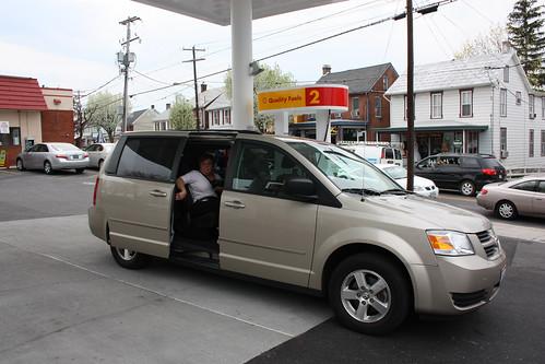 The Dodge Caravan we hired