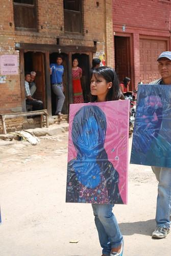 Walking on the Street, 2009, Nepal