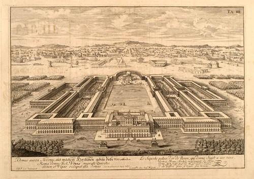 012- El palacio de Neron-Entwurf einer historischen Architektur 1721- © Universitätsbibliothek Heidelberg