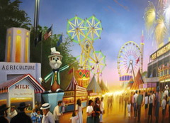 Minnesota State Fair Commemorative Oil Painting (Detail), St. Paul, Minnesota, June 2009, all photos © 2009 by QuoinMonkey. All rights reserved.