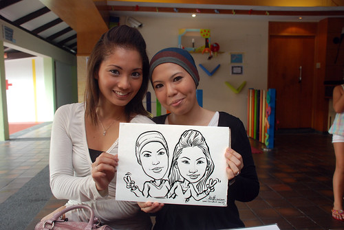 Caricature live sketching for Costa Sands Resort Day 4 - 2